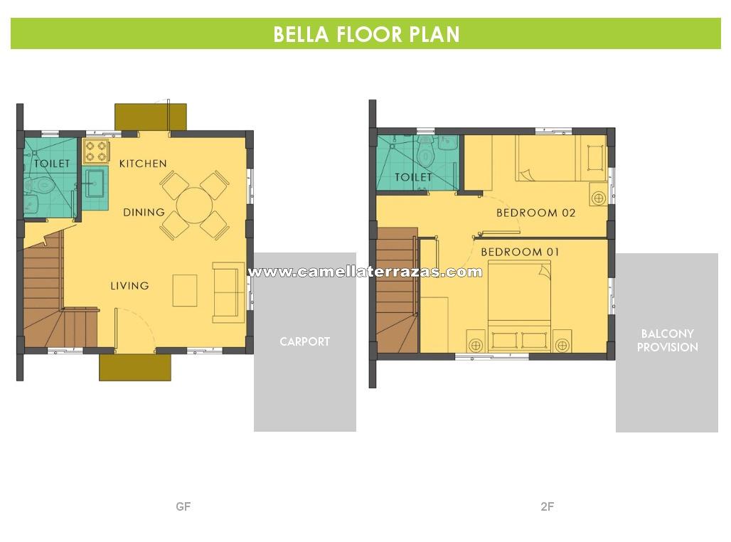 Bella House For Sale In Silang Cavite Camella Terrazas