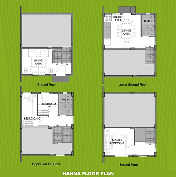 Hanna Floor Plan House and Lot in Silang