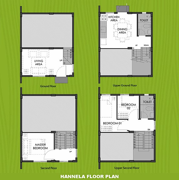 Hannela Floor Plan House and Lot in Silang