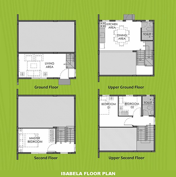 Isabela Floor Plan House and Lot in Silang