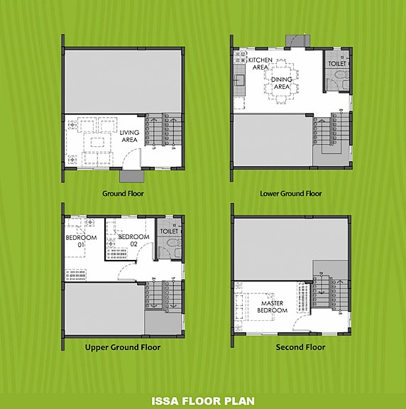 Issa Floor Plan House and Lot in Silang