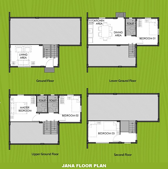 Janna Floor Plan House and Lot in Silang