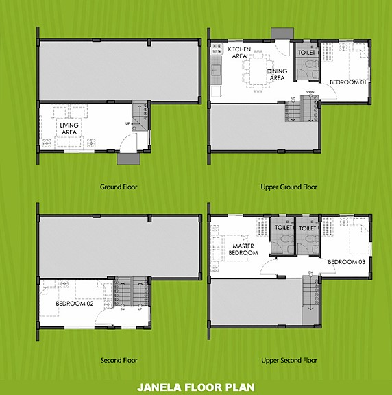Janela Floor Plan House and Lot in Silang