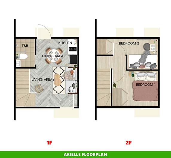 Arielle Floor Plan House and Lot in Silang