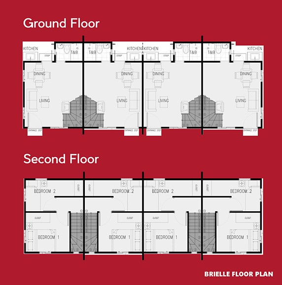 Brielle Floor Plan House and Lot in Silang