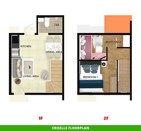 Criselle Floor Plan House and Lot in Silang