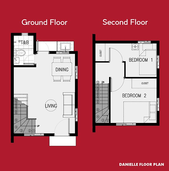Danielle Floor Plan House and Lot in Silang