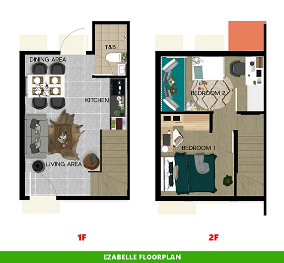 Ezabelle Floor Plan House and Lot in Silang