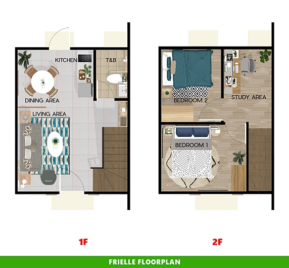 Frielle Floor Plan House and Lot in Silang